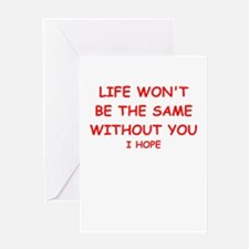 missing you Greeting Cards