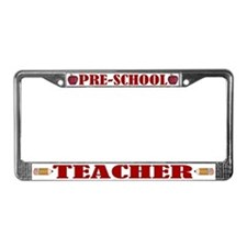 Pre School Teacher License Plate Frame
