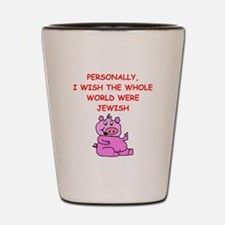 pig logic Shot Glass