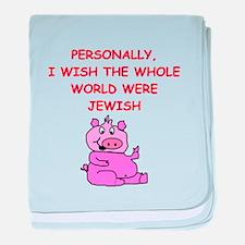 pig logic baby blanket