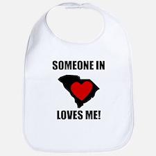 Someone In South Carolina Loves Me Bib