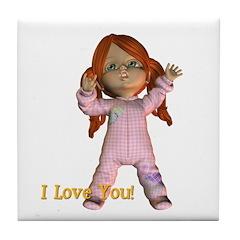 Tile Coaster - I Love You - Kit