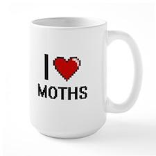 I love Moths Digital Design Mugs