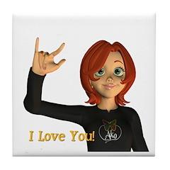 Tile Coaster - I Love You - Jan