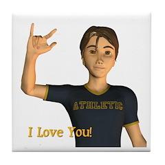 Tile Coaster - I Love You - Jimmy
