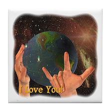 Tile Coaster - I Love You - God