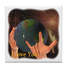 Tile Coaster - I Love You - God