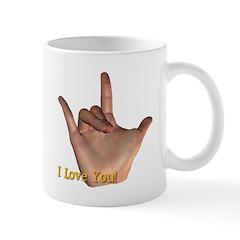 I Love You - Hand Mug