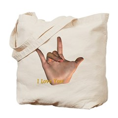 I Love You - Hand Tote Bag