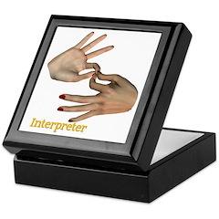 Keepsake Box - Female Interpreter hands