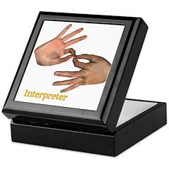 Keepsake Box - Male Interpreter Hands