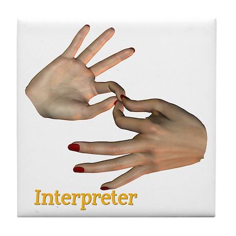 Tile Coaster - Interpreter Female Hands
