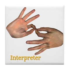 Tile Coaster - Interpreter Male Hands