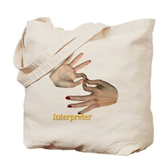 Interpreter - Female Hands Tote Bag