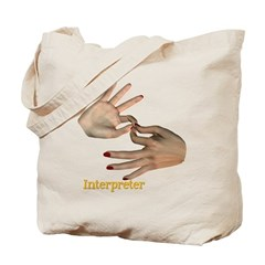Interpreter - Female Hands Tote Bag