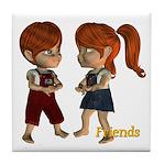 Tile Coaster - Friends - Kit & Kevin