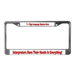 License Plate Frame-Male Hands