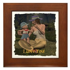 Mom & Baby 02 - Framed Tile