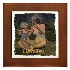 Mom & Baby 02 - Framed Tile