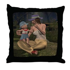 Throw Pillow - Mom and Baby 02