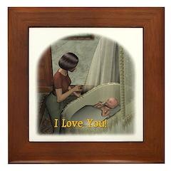 Mom & Baby 01 - Framed Tile