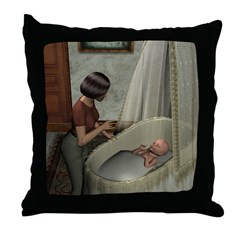 Throw Pillow - Mom and Baby 01