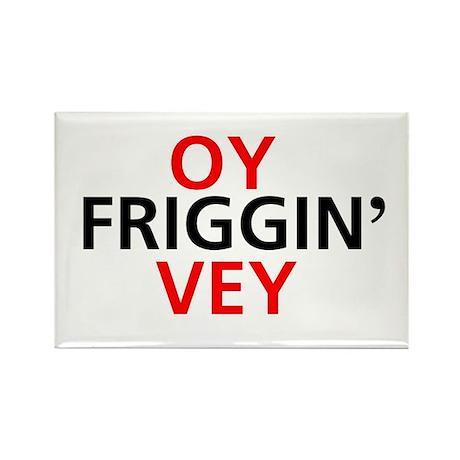 Oy Friggin' Vey Rectangle Magnet (100 pack)