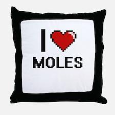 I love Moles Digital Design Throw Pillow