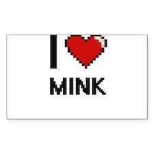I love Mink Digital Design Decal