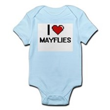 I love Mayflies Digital Design Body Suit