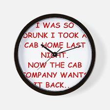 cab Wall Clock