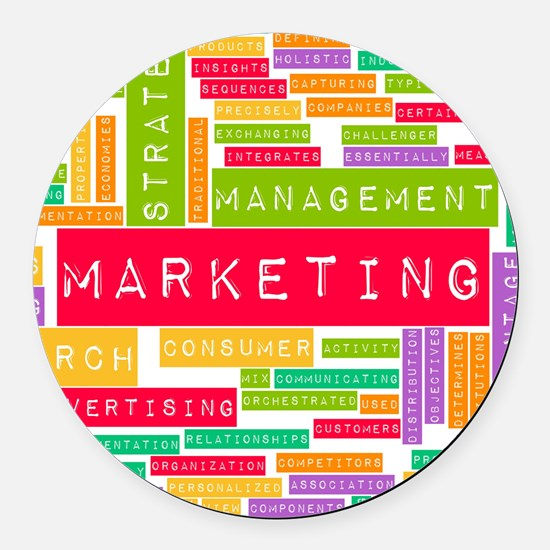 Branding and Marketing Round Car Magnet