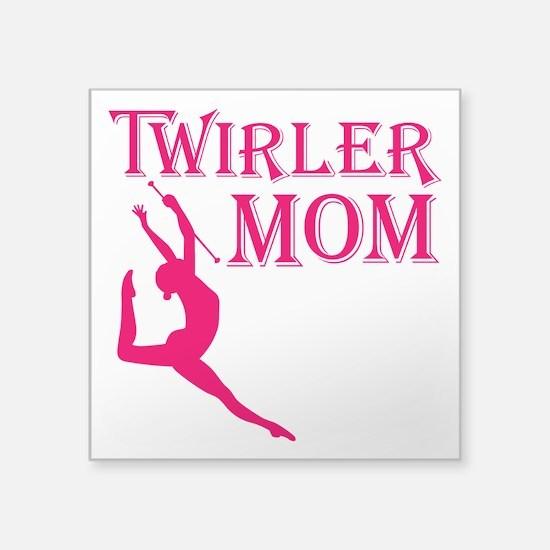 "TWIRLER MOM Square Sticker 3"" x 3"""