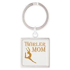 TWIRLER MOM Square Keychain