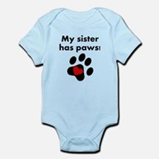 My Sister Has Paws Body Suit