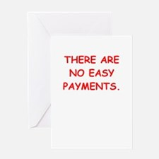 easy payments Greeting Cards