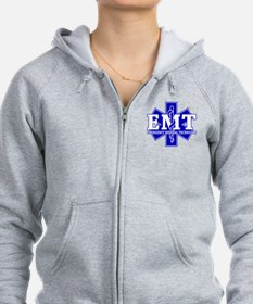 star of life - blue EMT word.png Zip Hoodie