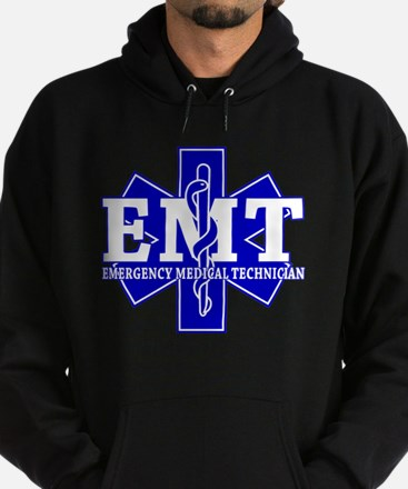 star of life - blue EMT word.png Hoodie