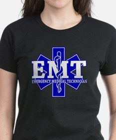 star of life - blue EMT word.png T-Shirt