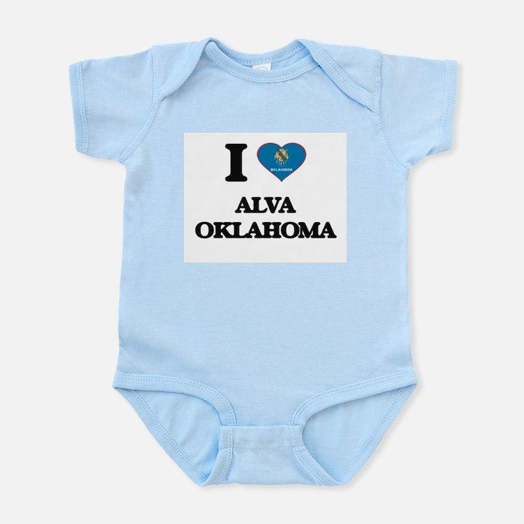I love Alva Oklahoma Body Suit