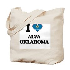 I love Alva Oklahoma Tote Bag