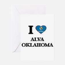 I love Alva Oklahoma Greeting Cards
