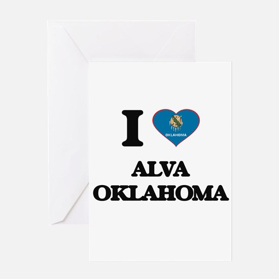 I love Alva Oklahoma Greeting Cards