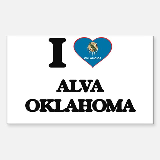 I love Alva Oklahoma Decal