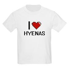 I love Hyenas Digital Design T-Shirt