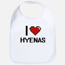 I love Hyenas Digital Design Bib