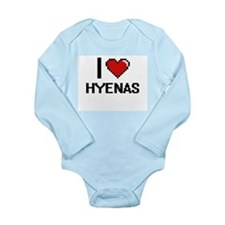 I love Hyenas Digital Design Body Suit