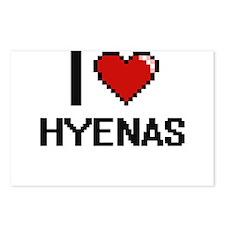 I love Hyenas Digital Des Postcards (Package of 8)