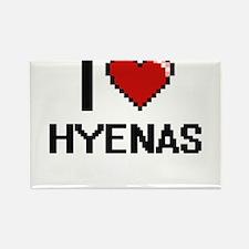 I love Hyenas Digital Design Magnets