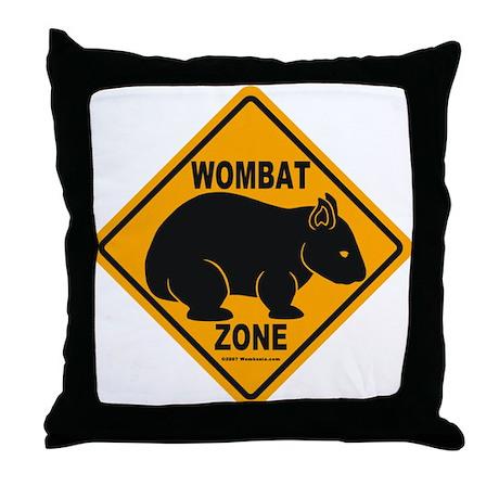 Wombat Zone Throw Pillow